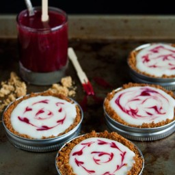 Mason Jar Lid Tarts: White Chocolate Graham