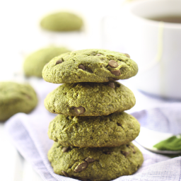 Matcha Green Tea Chocolate Chip Cookies