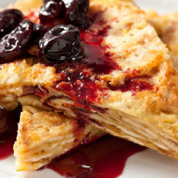 Matzo Brei with Roasted Cherries Recipe
