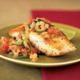 Mayo Clinic Grouper with Tomato-Olive Sauce