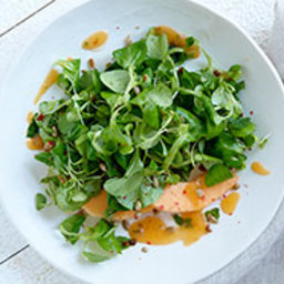 Mâche with Spicy Melon and Pink-Peppercorn Dressing