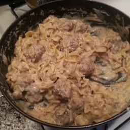 Meatball & Noodle Skillet