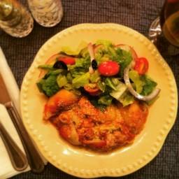 Meatless Pesto Manacotti with Simple Italian Salad