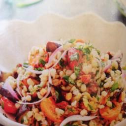 Mediterranean eggplant, herb and quinoa salad