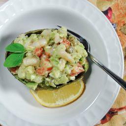 Mediterranean Shrimp Salad with Avocado and Feta Cheese