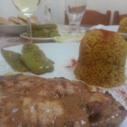 Mediterranean style chicken cutlets