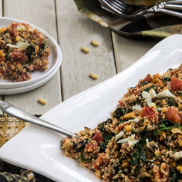 Mediterranean Tomato Quinoa with Spinach and Artichokes