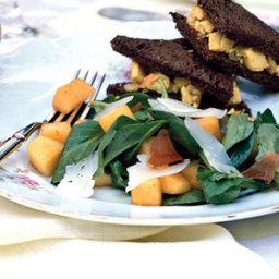 Melon, Serrano Ham, and Arugula Salad