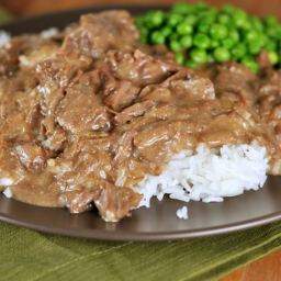 Mel's Kitchen Cafe Ultimate Beef Stroganoff {Slow Cooker}