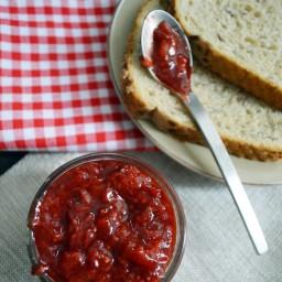 Mermelada de fresa saludable de 2 ingredientes y lista en 15 minutos