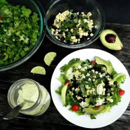 Mexican Chopped Salad with Green Goddess Dressing