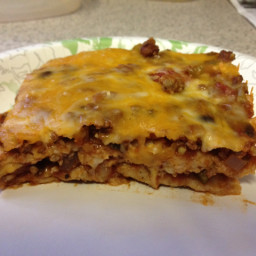Mexican Lasagna With Chicken, Corn & Black Beans