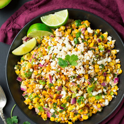 Mexican Street Corn Salad with Avocado