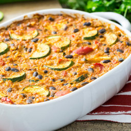 Mexican Style Bean and Rice Casserole