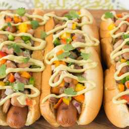 Mexican style hot dogs