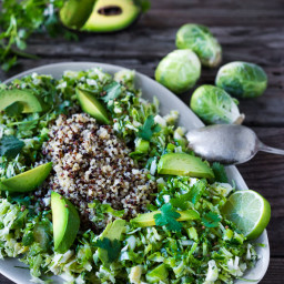 Mexican Brussel Sprout Slaw w/ Quinoa