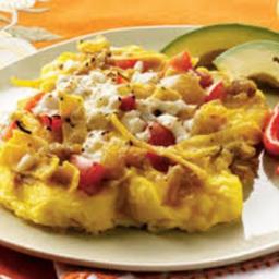Migas over Muffins  + Leftover Recipe (breakfast, sausage, quick)*