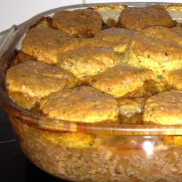 Minced Beef And Cheese Cobbler