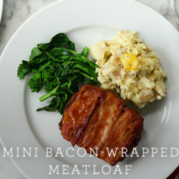 Mini Bacon-Wrapped Meatloaf