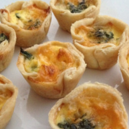 Mini spinach quiche