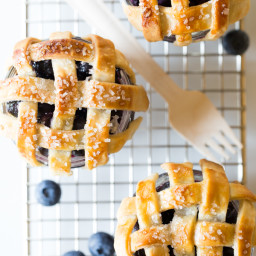 Mini Mason Jar Blueberry Pies