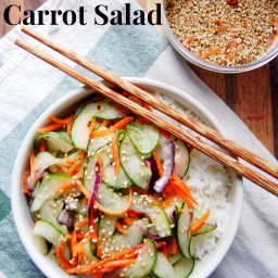 Miso Cucumber and Carrot Salad