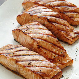Miso-Ginger Marinated Grilled Salmon