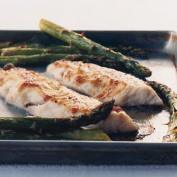 Miso-Glazed Sea Bass with Asparagus