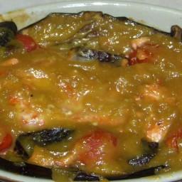 Miso Salmon and eggplant