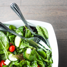 Mixed Greens Salad with Feta Cheese