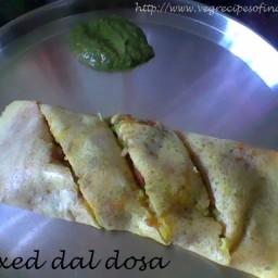 Mixed Dal Dosa Recipe