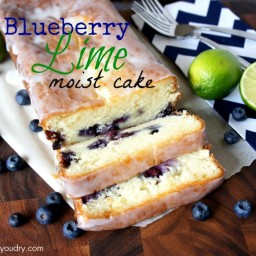 Moist Blueberry – Lime Loaf Cake