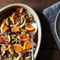 Molly Stevens Roasted Fennel, Red Onion, and Orange Salad