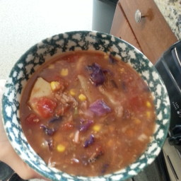 Mom's Left Over Roast Crock Pot Vegetable Beef Soup