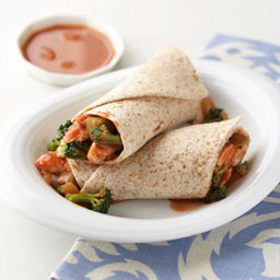 Moo Shu Chicken Wraps