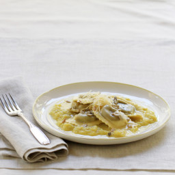 Mushroom Agnolotti with Butternut Squash Cream