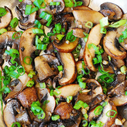 Mushroom and Garlic Saute (Paleo, Gluten Free)