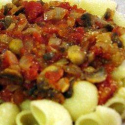 Mushroom and Onion Spaghetti