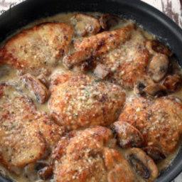 mushroom Asiago chicken recipe