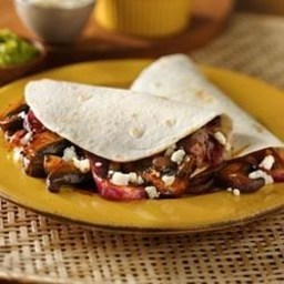 Mushroom and Onion Vegetarian Tacos