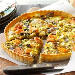 Mushroom  and  Smoked Salmon Tarts Recipe