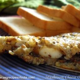 Mushroom Cheese Omelette Recipe