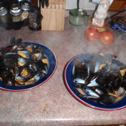Mussels Steamed in Spiced Beer