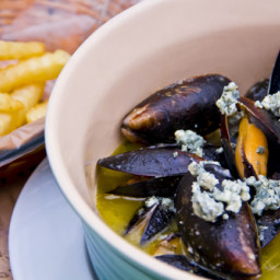 Mussels with blue cheese