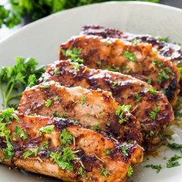 Mustard Balsamic Pork Chops with Rosemary