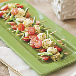 Mustard-Dill Tortellini Salad Skewers