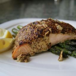 Mustard-Encrusted Broiled Salmon