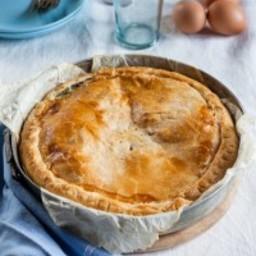 My mum's torta pasqualina, spinach and ricotta pie