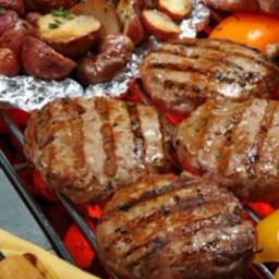 Naked turkey burgers/w grilled potato
