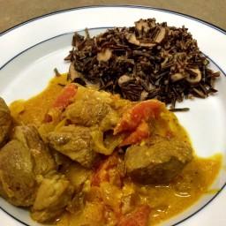 Nautico's Lamb Curry with Minnesota Wild Rice